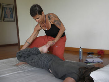 Traditional therapeutic Yoga Thai massage