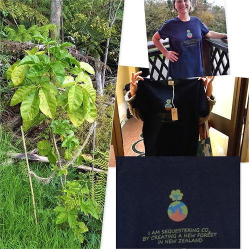 Un albero e una maglietta riciclata