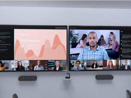 Innovaciones para el trabajo híbrido en Salas de Microsoft Teams, Fluid y Microsoft Viva