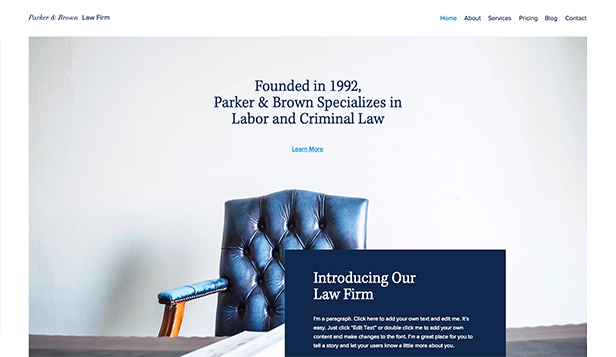 See All Templates website templates – Law Practice