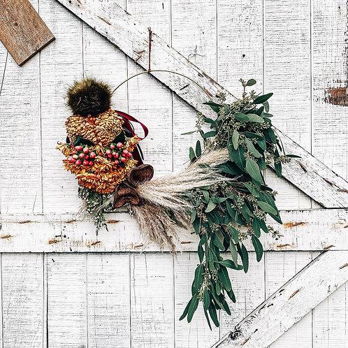Gold Hoop Naked Wreathe