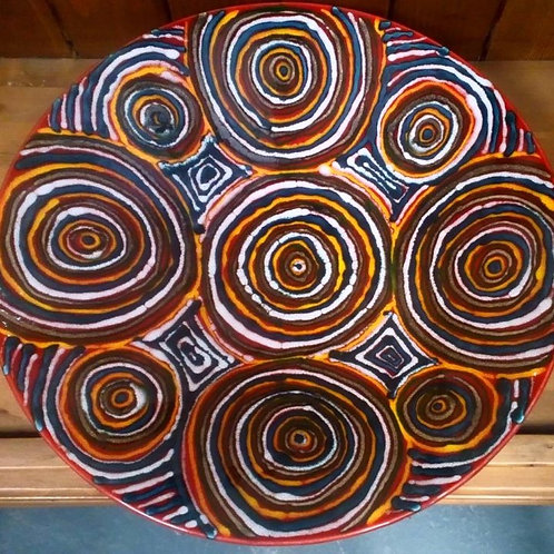 Circles one off large bowl