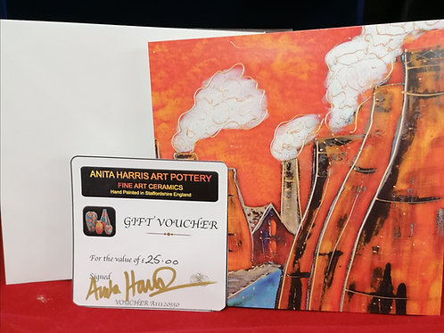 Gift Voucher for Anita Harris Pottery the ideal Christmas gift for collectors