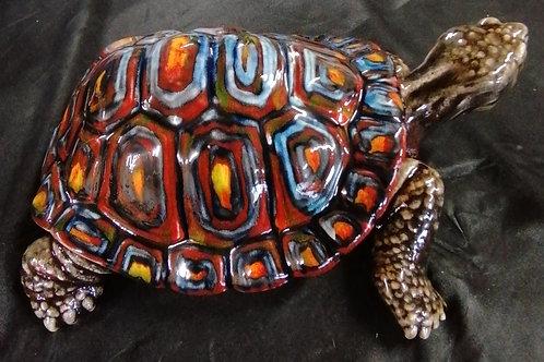 32cm tortoise handpainted stunning glazes