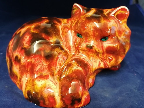 Made to order 14cm kitten figure in a light tortiseshell /ginger glaze effect