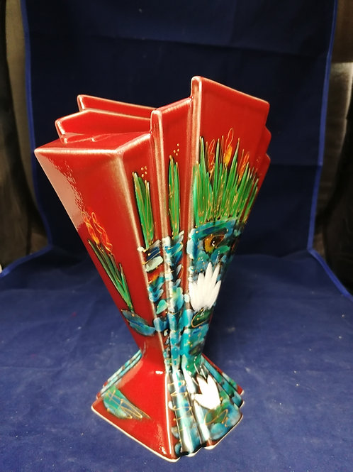 22cm fan water lily fan vase handpainted to order allow 21 days