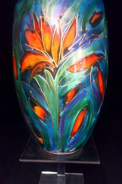 Nirvana Bird of paradise 16cm oval vase