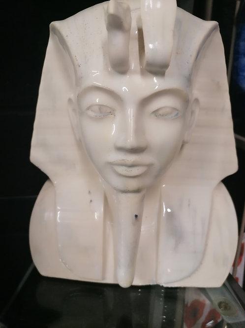 Marble glazed King Tut bust stunning glaze 28x24x10cm