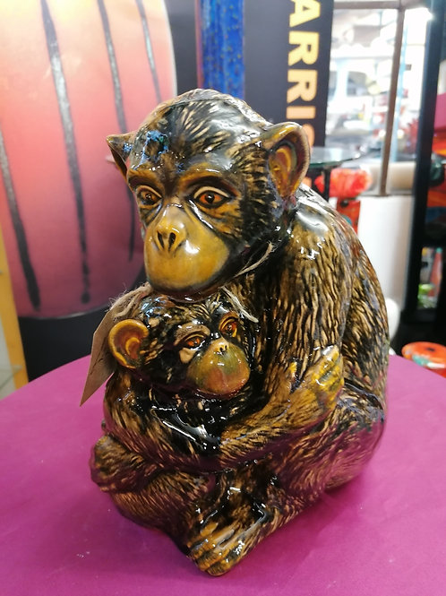 Handpainted to order allow 21 days stunning 28cm Chimp and baby gorgeous