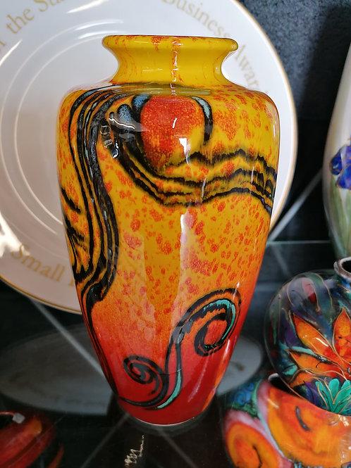 24cm Sparta vase stunning hand painted