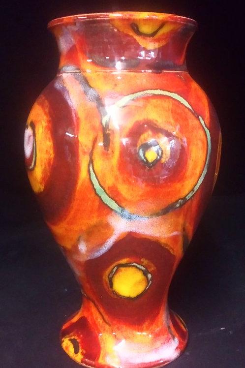 Rare hand thrown one off vase