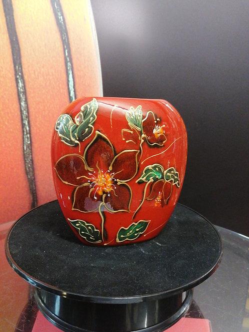 12cm vase Handpainted Christmas Rose (Hellebore)