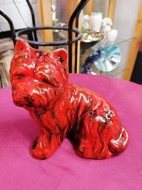 Made to order FLAMBÉ Westie 20cm IN STOCK NOW