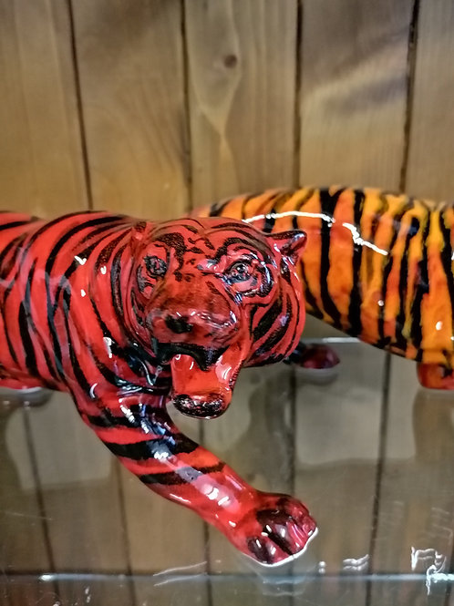 Made to order  Absolutely stunning FLAMBÉ tiger by Anita 17ins stunner