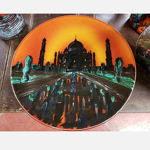 Made to order Taj Mahal handpainted 42cm charger each one unique allow  21days