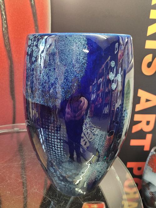 19cm oval vase Blue Moon stunning smart and modern