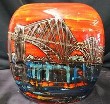 19cm pusre vase orange multi Forth Bridg