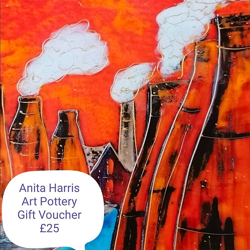 Gift vouchers the perfect gift for fans of Anita's unique pottery