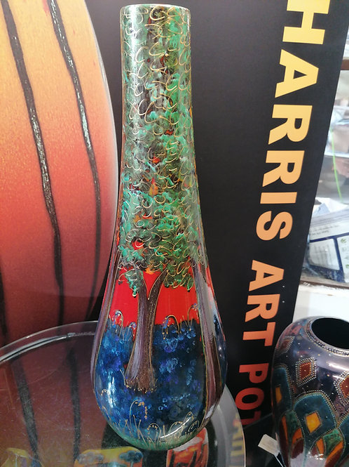 Stunning  50cm vase entirely hand painted in our classic Bluebell Wood