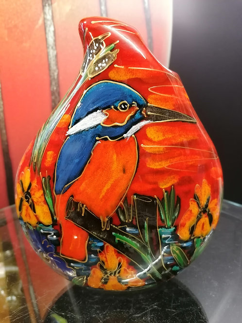 In stock 22cm teardrop Kingfisher vase wow!