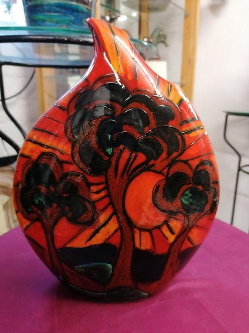 Deco trees 32cm handpainted teardrop vase stunning
