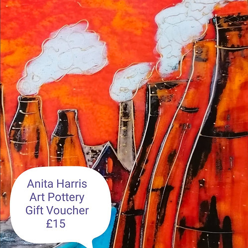 Gift voucher for fans of Anita's Pottery