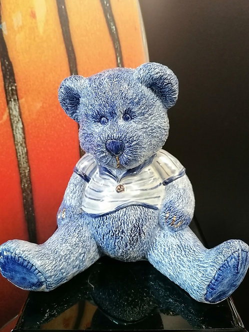 Made to order rare Teddy collection is a stunning sitting Teddy in a striped t