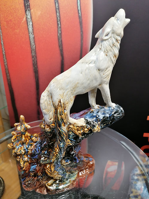 Made to order only stunning and each one unique 38cm s/ware wolf figure