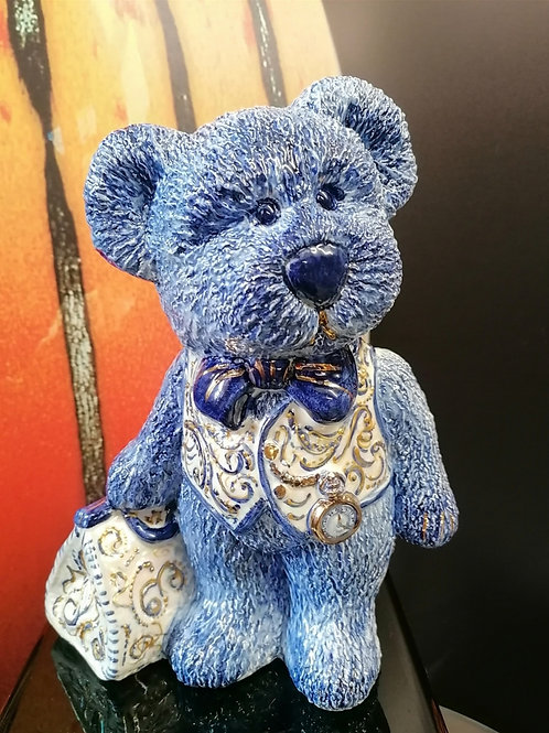 First of our rare collectable handpainted  teddies  26cm