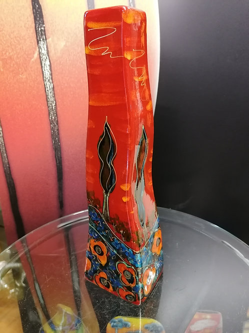 Made to order 30cm curvy vase 'Cyprus' art on a vase