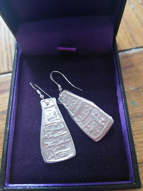 NEW!! Solid silver handmade by Anita Chunky bottle kiln earings 2.75cm