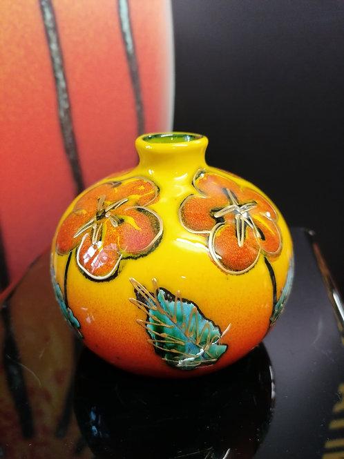 11.5cm floral trial vase handpainted