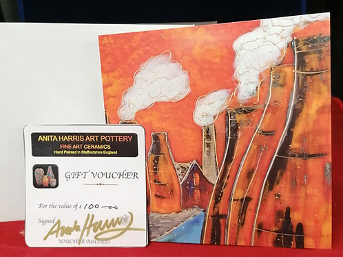 Gift Voucher for Anita Harris Pottery ideal Christmas gift for collectors