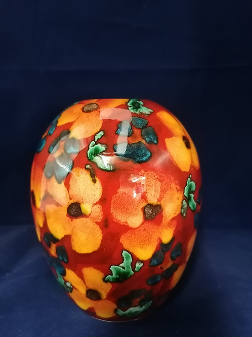 15cm vase handpainted with a floral medley very pretty