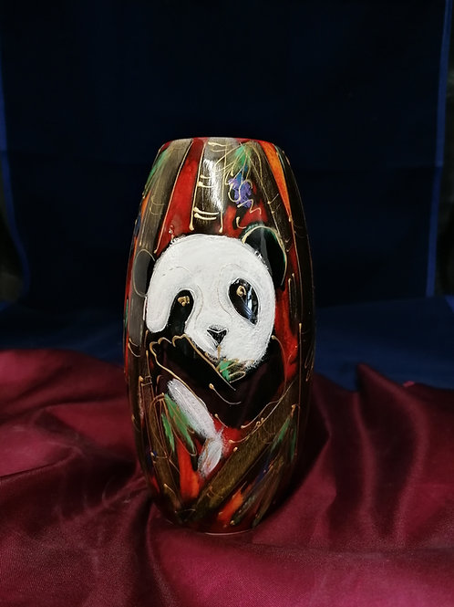17cm Panda  skittle vase hand painted to order allow 21 days thank you