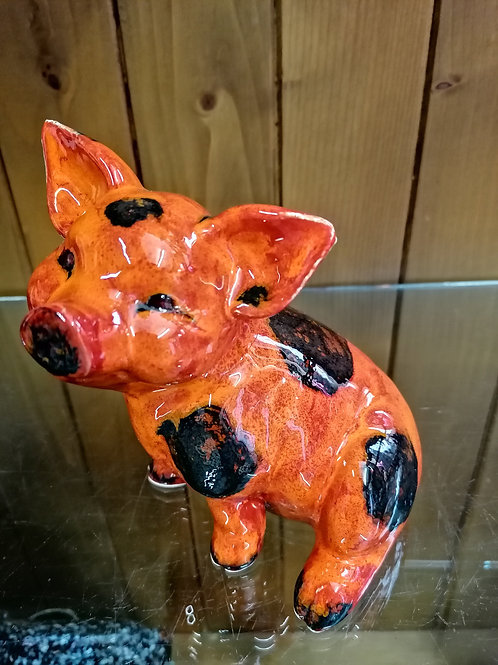 This little pig is made to order and is approx 8ins hand painted