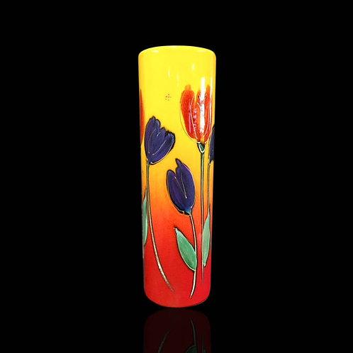 Tulips Cylinder Vase 27cm
