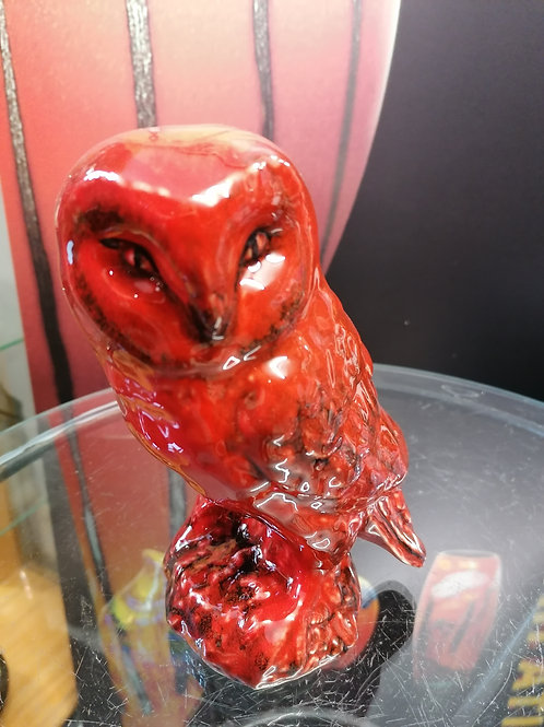 Made to order 20cm handpainted flambé owl allow 21 days