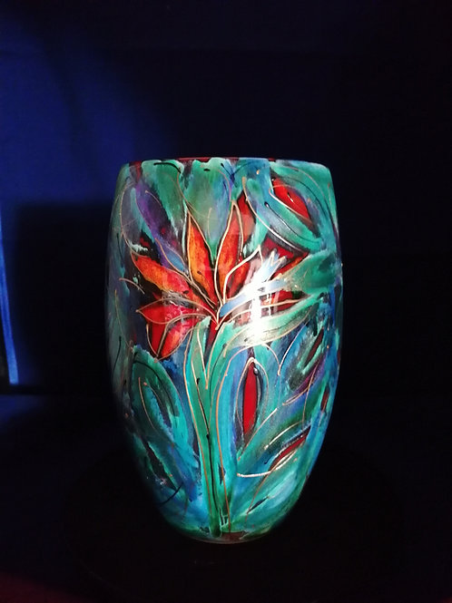 Made to order Nirvana 17cm handpainted vase please allow 21 days