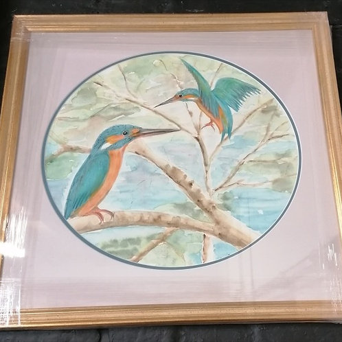 Rare delicate water colour 2006 by Anita Harris reduced price