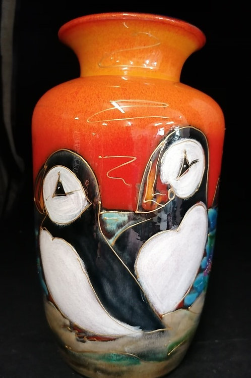 Puffin Island large classic vase 28cm plz allow us 21 days to make and paint it