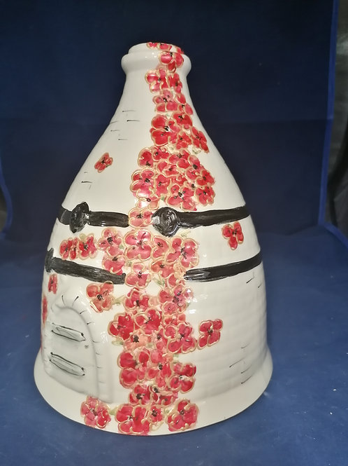 30cm Poppy bottle oven handpainted to order allow 21 days thank you