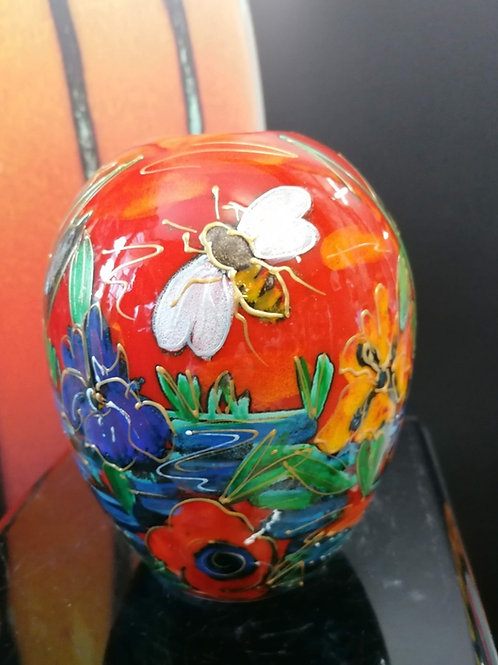 15cm case handpainted in our stunning Honey Bee Brook design