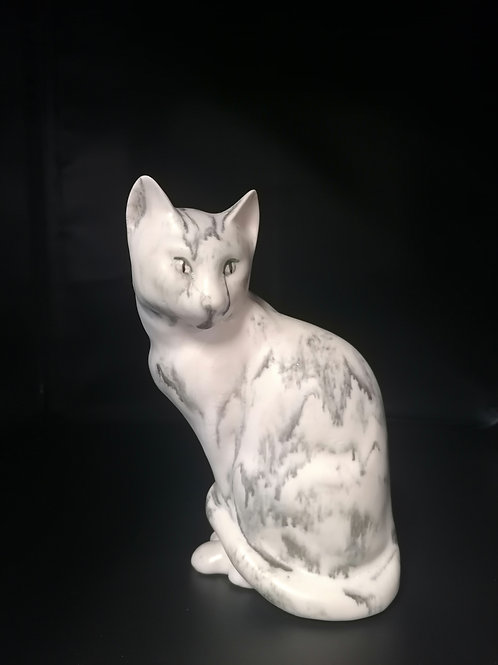 21cm Marble effect cat very realistic and heavy!