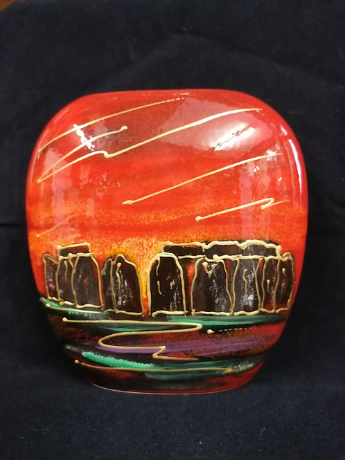 Stunning in stock NOW Stonehenge 12.cm hand painted purse vase