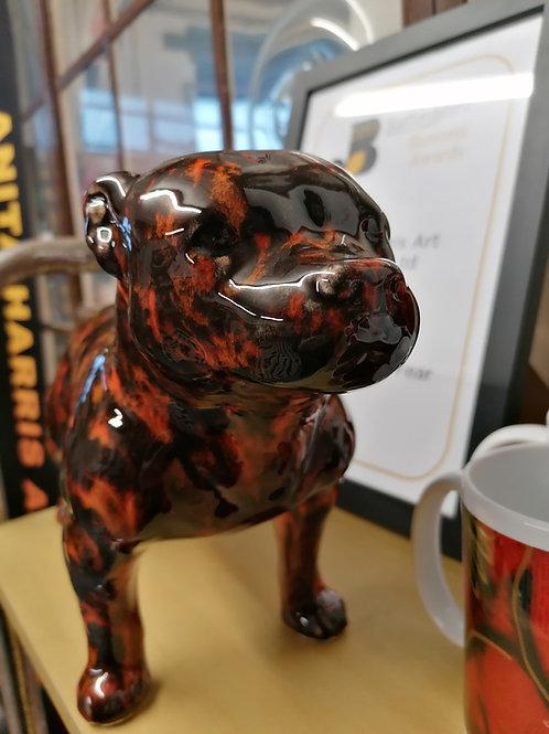 36cm Staffy on a beautiful brindle glaze combination gorgeous!