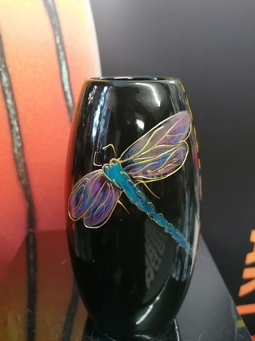 Made to order lustre dragonfly 15cm vase delicate and beautiful