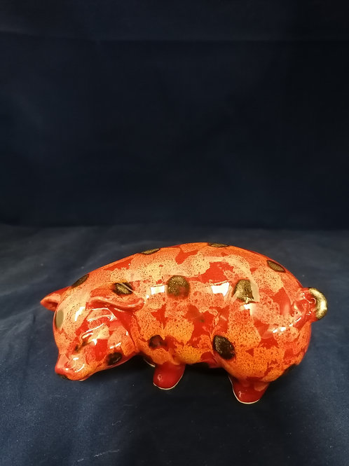12cm floral pig handpainted a great addition for  collectors of pigs.