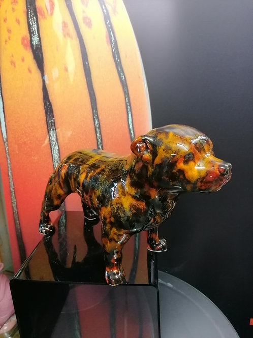 Made to order brindle Staffy hand painted glaze effects stunning each 1 uniqu