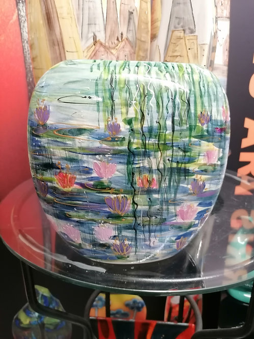 19cm purse vase from Homage to Monet collection